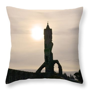St Andrews Scotland At Dusk Throw Pillow