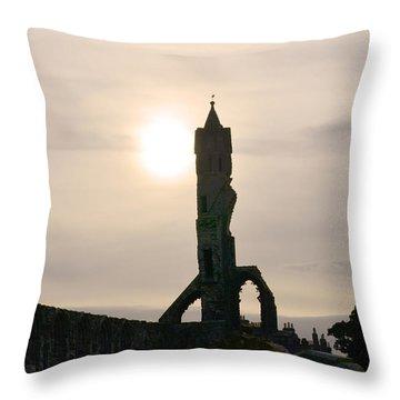 St Andrews Scotland At Dusk Throw Pillow by DejaVu Designs