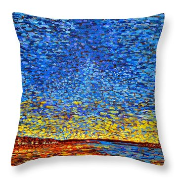 St. Andrews Sunset Throw Pillow