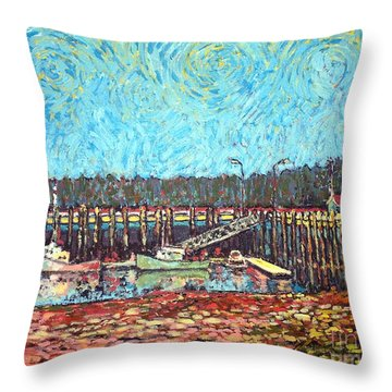 St Andrews Wharf Throw Pillow