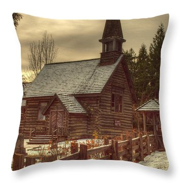 St Anne's Church In Winter Throw Pillow by Randy Hall