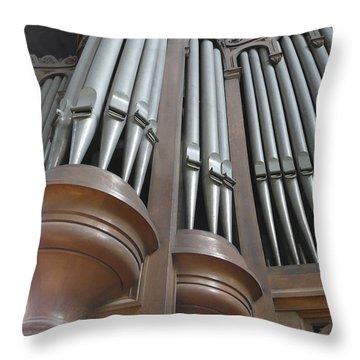 St Augustin Organ Throw Pillow