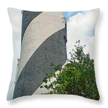 St. Augustine Lighthouse Throw Pillow
