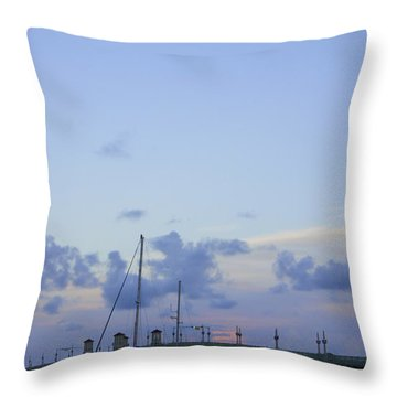 St. Augustine Sunset Throw Pillow by Laurie Perry