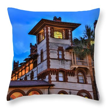 Throw Pillow featuring the photograph St. Augustine's View by Paula Porterfield-Izzo
