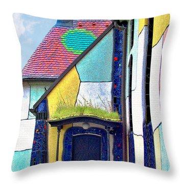St Barbara Church - Baernbach Austria Throw Pillow by Christine Till