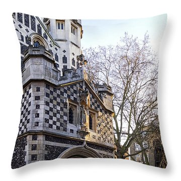 St Bart's Church Throw Pillow by Shirley Mitchell