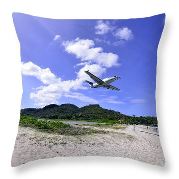 St Barts Takeoff Throw Pillow