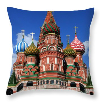 St. Basil's Cathedral Throw Pillow by Laurel Talabere