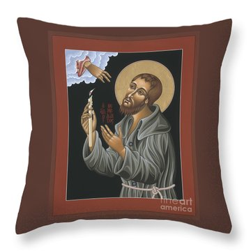 Throw Pillow featuring the painting St. Benedict Joseph Labre 062 by William Hart McNichols