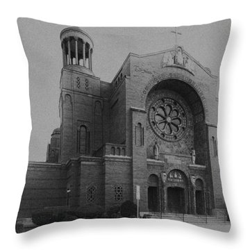 St Casimir's 10267 Throw Pillow by Guy Whiteley