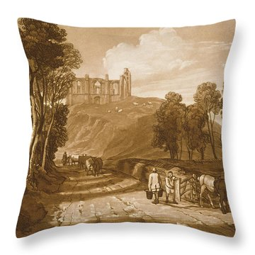 St Catherines Hill Near Guildford Throw Pillow by Joseph Mallord William Turner