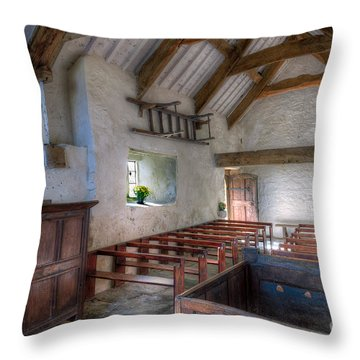 St Celynnin Interior Throw Pillow by Adrian Evans
