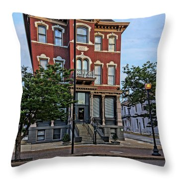 St. Charles Odd Fellows Hall Built In 1878 Dsc00810  Throw Pillow