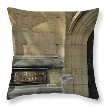 St. Cross College Throw Pillow by Joseph Yarbrough