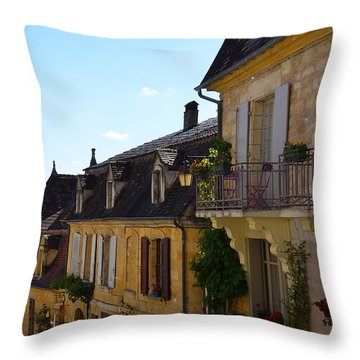 Throw Pillow featuring the photograph St Cyprien En Perigord by Dany Lison