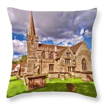 St Cyriac Church Lacock Throw Pillow