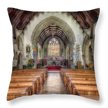 St Davids Church Throw Pillow by Adrian Evans