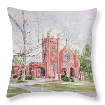 St. David's Episcopal Church Throw Pillow by Gloria Turner