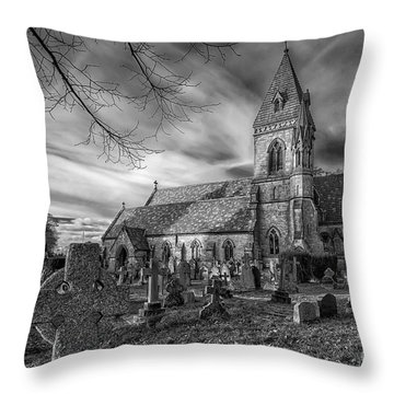 St David's Pantasaph Throw Pillow by Adrian Evans