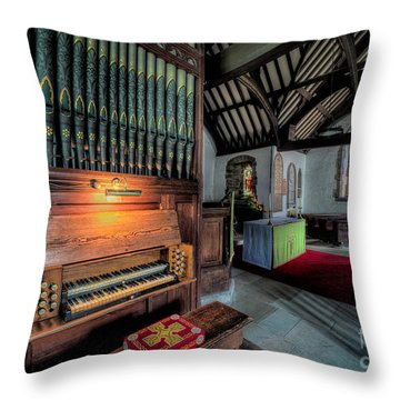 St Digains Church Throw Pillow by Adrian Evans