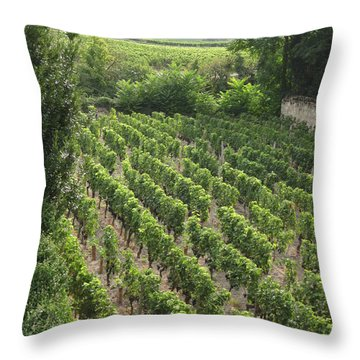 St. Emilion Vineyard Throw Pillow