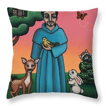 St. Francis Animal Saint Throw Pillow