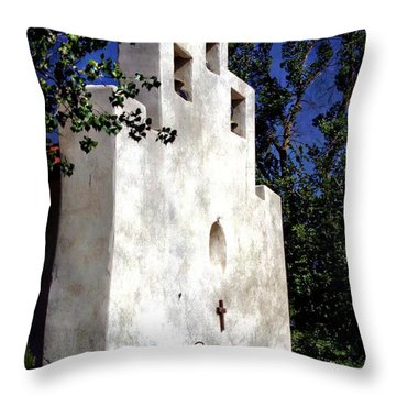 St. Francis De Paula Throw Pillow by Barbara Chichester