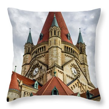 St. Francis Of Assisi Church In Vienna Throw Pillow