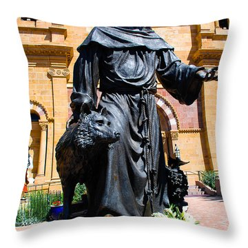 St Francis Of Assisi - Santa Fe Throw Pillow