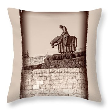St Francis Returns From Crusades Throw Pillow