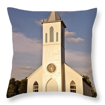 St. Gabriel The Archangel Catholic Church Throw Pillow by Scott Pellegrin