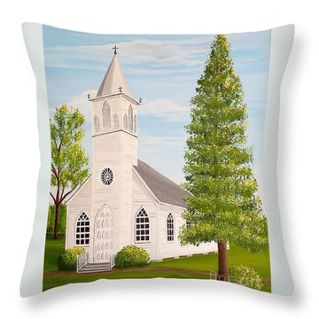 St. Gabriel The Archangel Roman Catholic Church Throw Pillow