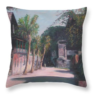 St. George Street II Throw Pillow