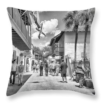 Throw Pillow featuring the photograph St. Geroge Street by Howard Salmon
