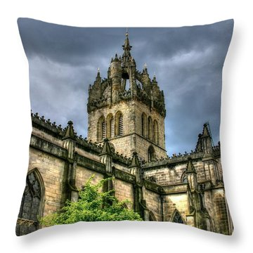 St Giles And Tree Throw Pillow