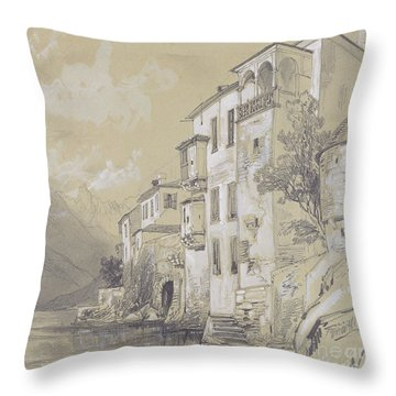 St Giulio Orta Throw Pillow by Edward Lear