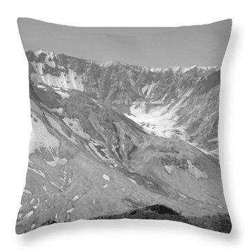 St. Helen's Crater Throw Pillow