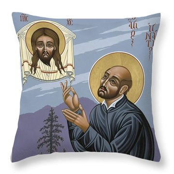 St. Ignatius Amidst Alaska 141 Throw Pillow