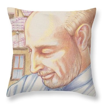 Throw Pillow featuring the painting St. Ignatius At Prayer In Rome by William Hart McNichols