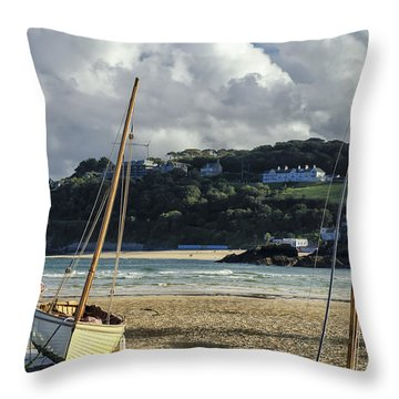 St. Ives Harbor Throw Pillow