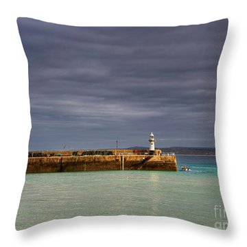 St Ives In Cornwall Throw Pillow