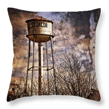 St. Jacob Water Tower 2 Throw Pillow by Marty Koch
