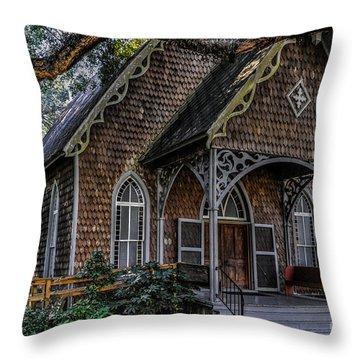 St. James Episcopal Church In Mccellanville Sc Throw Pillow