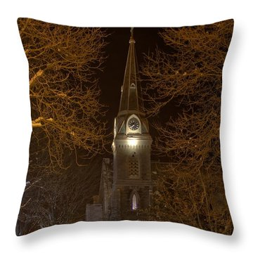 St. James Episcopal Church Steeple Throw Pillow