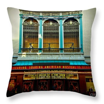 St. James Theatre Balcony Throw Pillow