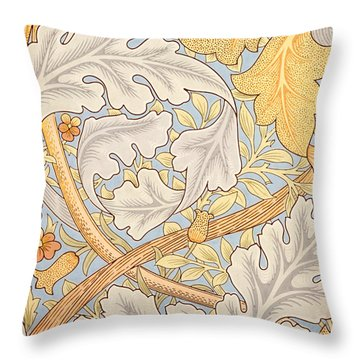 St James Wallpaper Design Throw Pillow by William Morris