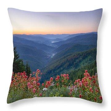 St. Joe Wildflowers Throw Pillow