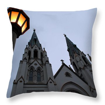 St John's Cathedral Throw Pillow