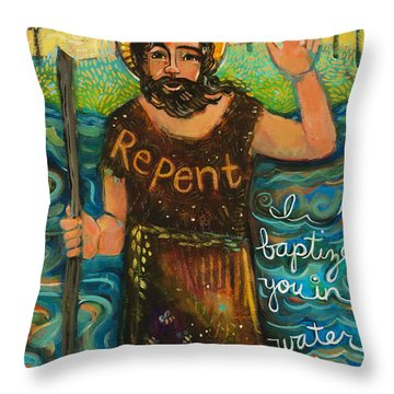 St. John The Baptist Throw Pillow